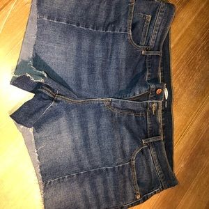 Cute cut-off style jean shorts, size 16